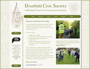 Dronfield Civic Society link and screenshot