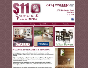 S11 Carpets & Flooring Web Link and Screen Shot