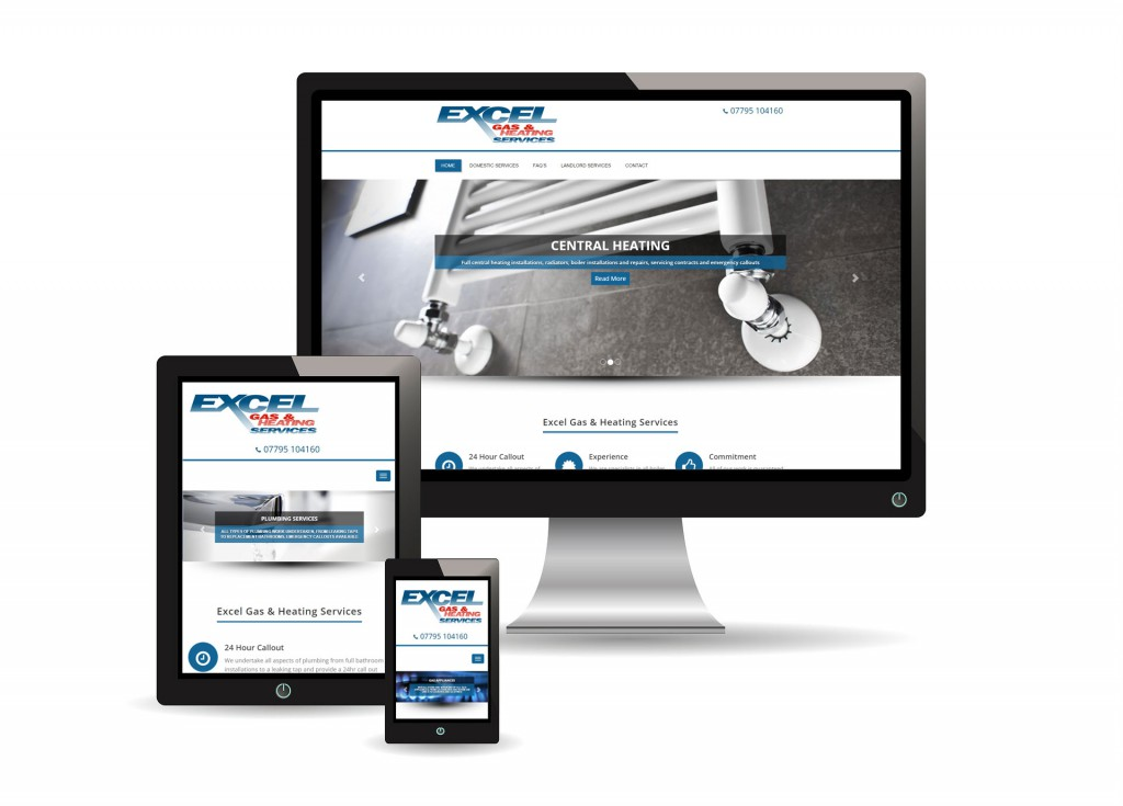 Excel Gas and Heating Services Website Images