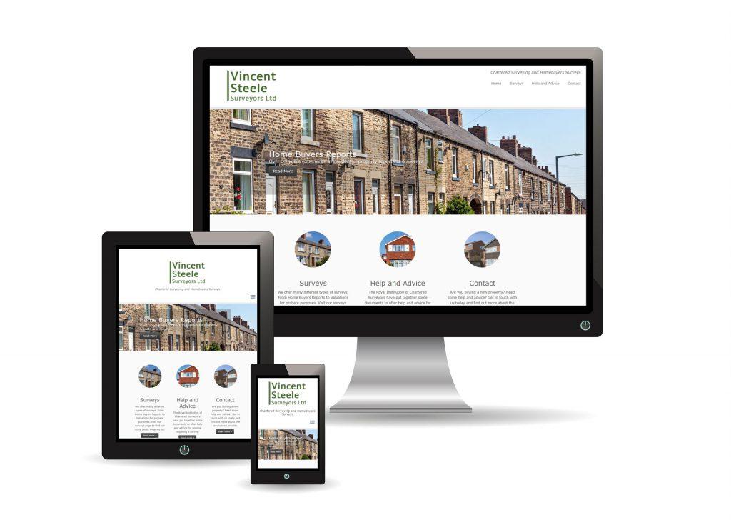 Vincent Steele Surveyors Website Images showing responsive design