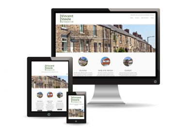 Vincent Steele Surveyors Website Images showing responsive design